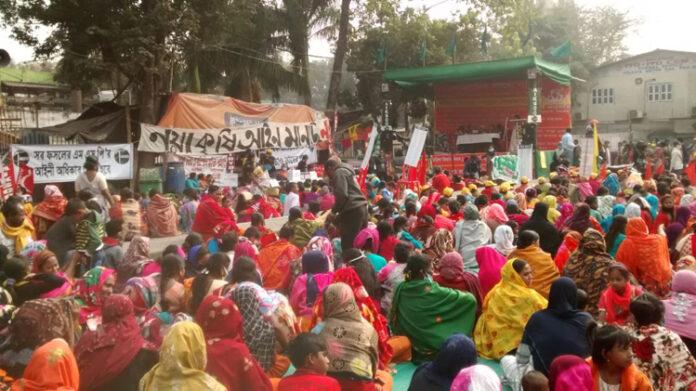 women farmers mahila kisan diwas bengal kolkata protest farm laws bills