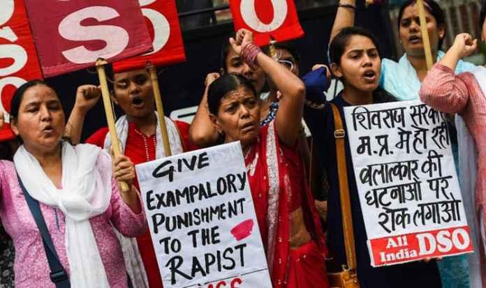 crime against women rape communal violence sc st Madhya Pradesh